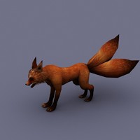cartoon fox 3d model