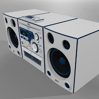 cinema4d stereo radio cd