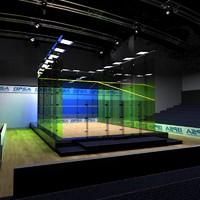 squash court 3d model