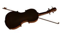 3d realistic violin model