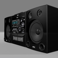 stereo radio cd 3d model