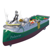 3d model of seismic vessel polarcus naila