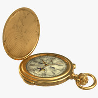 3d old russian stopwatch watches model