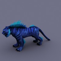 cartoon tiger 3d max