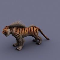 cartoon tiger 3d model