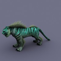 3d model cartoon tiger