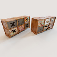 3d 2 ethnic chests drawers