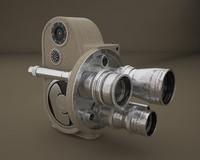 3d model retro bell howell camera