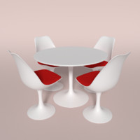 3d model tulip chair