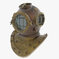3d model diving helmet