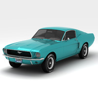 3ds max mustang fastback 1968