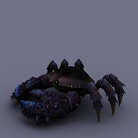 3ds max cartoon crab