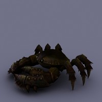 3d cartoon crab model