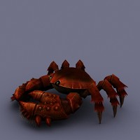 cartoon crab obj