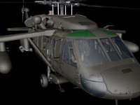 helicopter animation 3d model