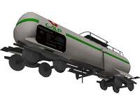 oil tank train car 3d 3ds