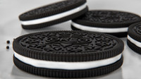 3d oreo cookies glass milk model