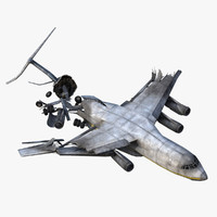 crashed airfreighter 3d 3ds