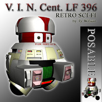 3d model vincent droid black