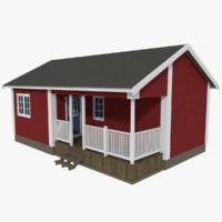 scandinavian cabin obj