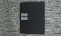 3d nordsk sybel aluminum wall