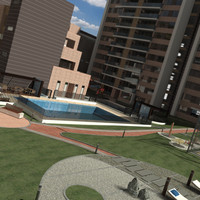 3ds max residential building complex