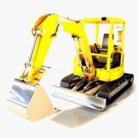 mini excavator 3d max