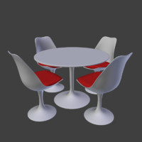 tulip chair 3d dxf