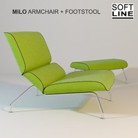 SoftLINE MILO ARMCHAIR + FOOTSTOOL