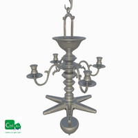 3d model antique chandelier