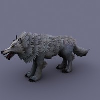 wolf cartoon 3d obj