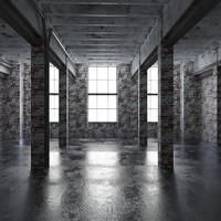 3d model base loft interior scene