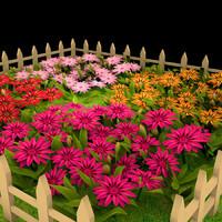 gazania garden 3d obj