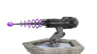 3d sci-fi laser turret gun model