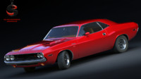 dodge challenger rt 1969 3d model