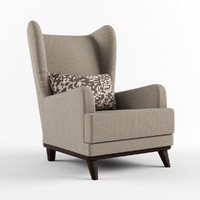 Armchair with headrest and pillow