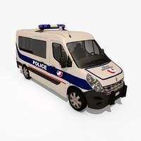 renault master iii police 3d c4d