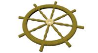 3d model ships wheel