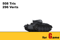3d ww ii german tank model