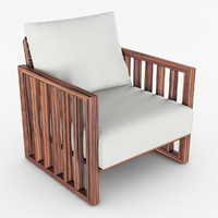 3d armchair chair bolerina model