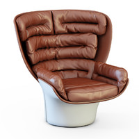 3d armchair chair elda