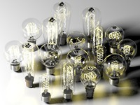 bulbs composition 3d max