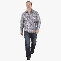 3d model casual man