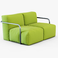 sofa bubbly roberto sartorio 3d model