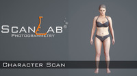 3d model suzanne female body scan