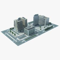 city block cityscape 03 3d model