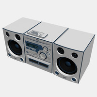 3d stereo radio player model