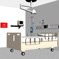 hospital medical equipment 3d max