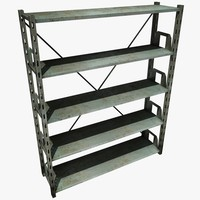 3d metal shelving unit