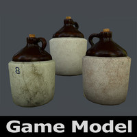 3d model of old stoneware jug